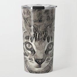 Cute Bengal Kitty Sketch Travel Mug