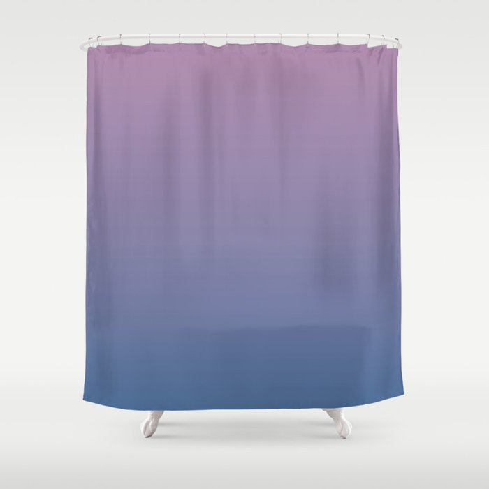 Gradient Dawn Pink Purple Blue Shower Curtain