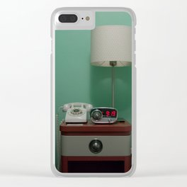 Holiday Music Motel 124 Clear iPhone Case