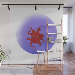 Octopus is coming out of the bubble Wall Mural