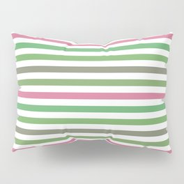 Pink Roses in Anzures 5  Stripes 1H Pillow Sham