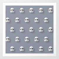 Stormtrooper Episode VII Flat Design Mosaic Art Print