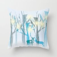 xmas Throw Pillows featuring xmas by Valentina Cobetto