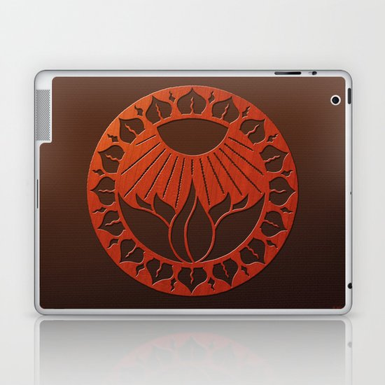 iliahni woodcut print Laptop & iPad Skin