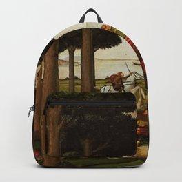 Sandro Botticelli - Story of Nastagio Degli Onesti - Part Two Backpack