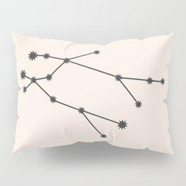 Gemini Zodiac Constellation Charcoal Pillow Sham
