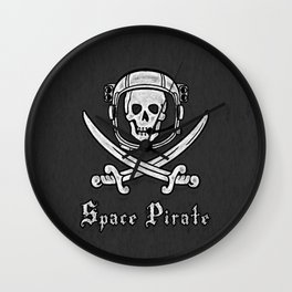 Space Pirate Wall Clock