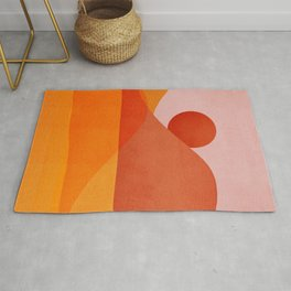 Abstraction_Mountains_SUNSET Rug