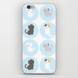 Cute Blue Kitties iPhone Skin