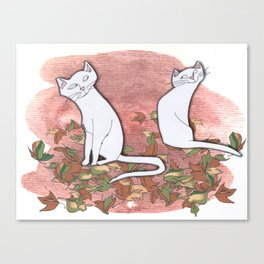 October Cats Canvas Print