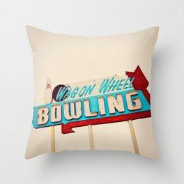 Wagon Wheel Bowling  Throw Pillow