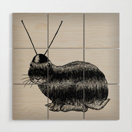 Fuzzy Reception Wood Wall Art