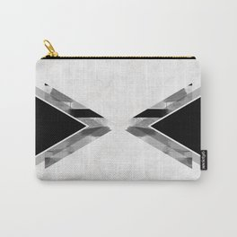 Three Triangles Geometric in B&W Carry-All Pouch