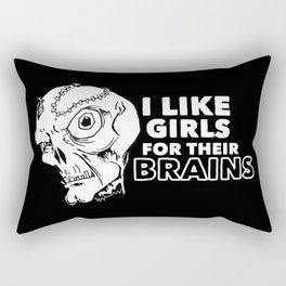 I Like Girls for Their Brains Rectangular Pillow