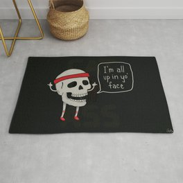 Skull in your Face Rug