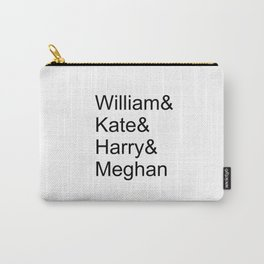 William & Kate & Harry & Meghan Carry-All Pouch