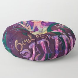 Bird of Paradise Floor Pillow