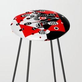 MICROGRAVITY - RED & BLACK Counter Stool