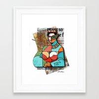 regina mills Framed Art Prints featuring Regina by Panzica