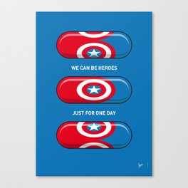 My SUPERHERO PILLS - America Captain Canvas Print