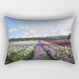 Santa Paula Briggs Road Flowers after the Rain Rectangular Pillow