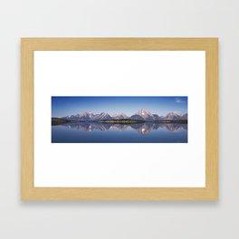 Sunrise Over Jackson Lake And Grand Teton Range.  Framed Art Print