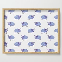 cute sheep pattern Serving Tray