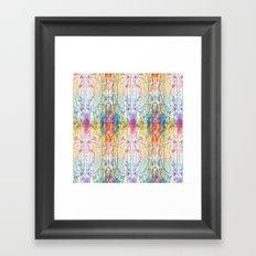 Melt Colors Series: Mess Framed Art Print