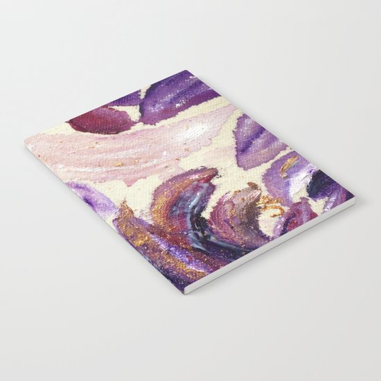Purple Leaves with Gold Flakes Notebook