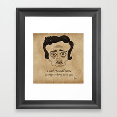 Poe Cat Framed Art Print
