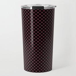 Black and Tawny Port Polka Dots Travel Mug
