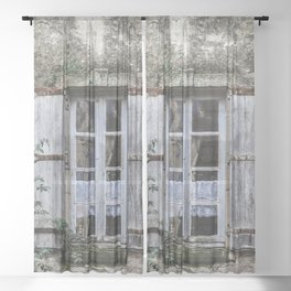 Old Window Sheer Curtain