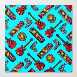 Back to the Future Pattern Canvas Print
