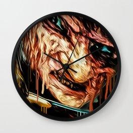freddy graffiti print Wall Clock