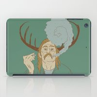 true detective iPad Cases featuring Rust Cohle - True Detective by Soup & Sausage