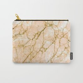 Pink marble & gold effect Carry-All Pouch