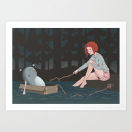 Night time adventures Art Print