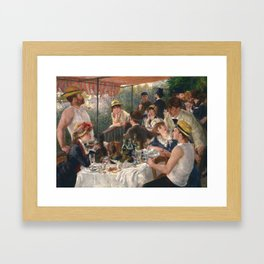 Auguste Renoir - Luncheon of the Boating Party (Le déjeuner des canotiers) Framed Art Print