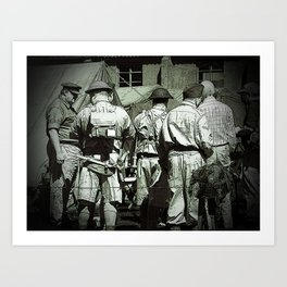 Dads Army on parade Art Print