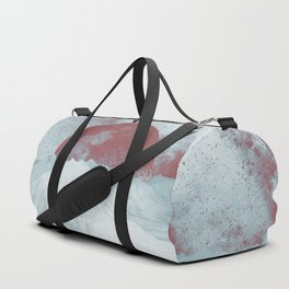 Pink Moon Mountain Duffle Bag