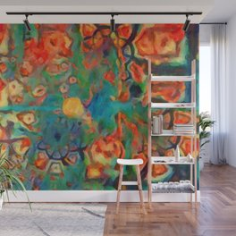 Painted Fractal Abstract Wall Mural