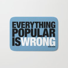 Everything Popular Is Wrong Bath Mat