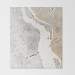Feels: a neutral, textured, abstract piece in whites by Alyssa Hamilton Art Throw Blanket