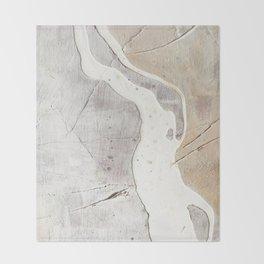 Feels: a neutral, textured, abstract piece in whites by Alyssa Hamilton Art Decke