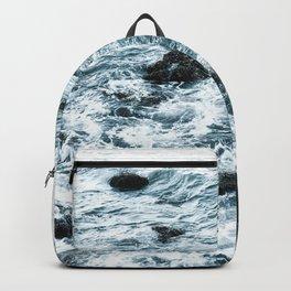 Sea Rocks Dark Blue Backpack