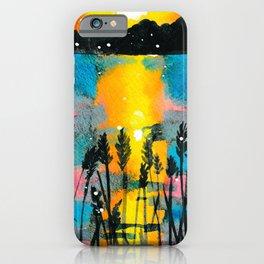 Beach Grass Sunset iPhone Case