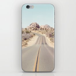 Joshua Tree Desert Road - Landscape Photography iPhone Skin
