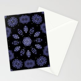 Snowflake Lights In The Park Stationery Cards