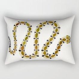 Olive Serpent Rectangular Pillow