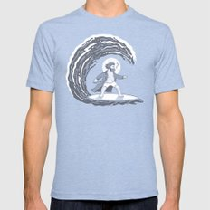Surf's Up Mens Fitted Tee MEDIUM Tri-Blue
